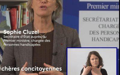 Interview de Sophie Cluzel relative au Coronavirus