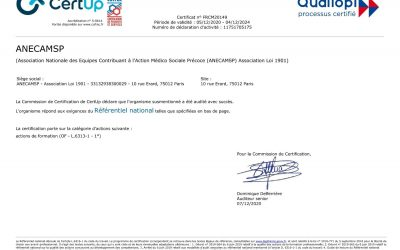 L'ANECAMSP, certifiée Qualiopi
