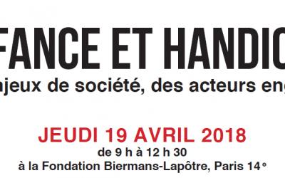 Table ronde Croix-Rouge française : «Enfance et handicap : des enjeux de société, des acteurs engagés»