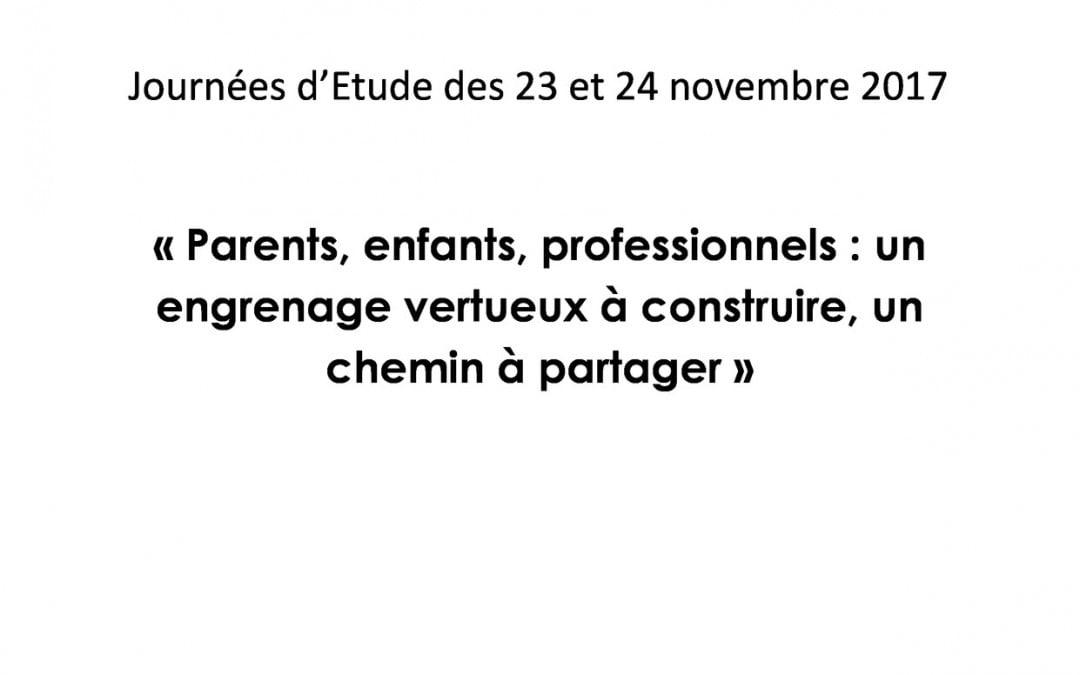 Journées d'étude 23-24 Novembre 2017